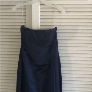 *FINAL SALE* Strapless David's Bridal Navy dress